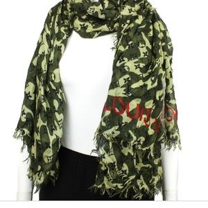 Camo Louis Vuitton scarf